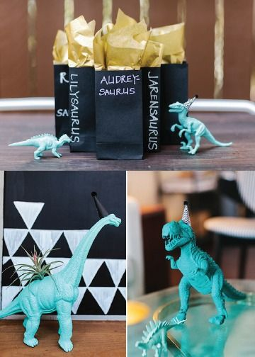 Do your kids love their dinosaur movies? Geometric patterns and ferociously fun dinosaurs combine in this modern kid's birthday party! Herbivores and carnivores alike will love the kid-friendly party food as well.