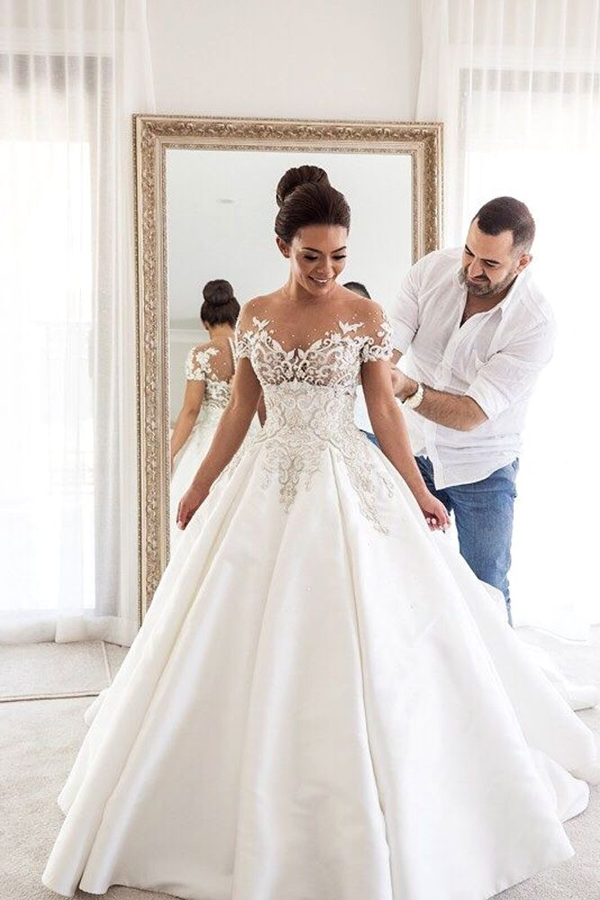 18 Of Our Favorite Steven Khalil Wedding Dresses ❤ See more: http://www.weddingforward.com/steven-khalil-wedding-dresses/ #wedding #dresses