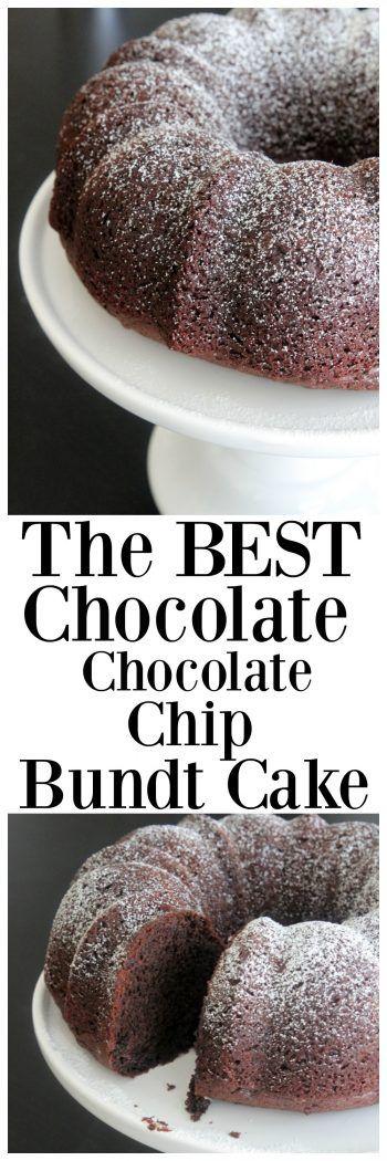 @pickypalate #ChocolateChocolateChip #Bundt #Cake sounds like a great dessert or brunch