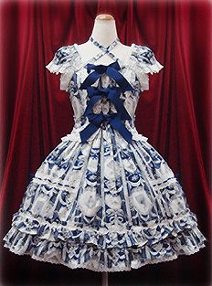 Baby the Stars Shine Bright | Marie Antoinette JSK (マリィアントワネットジャンパースカート) in blue or red.