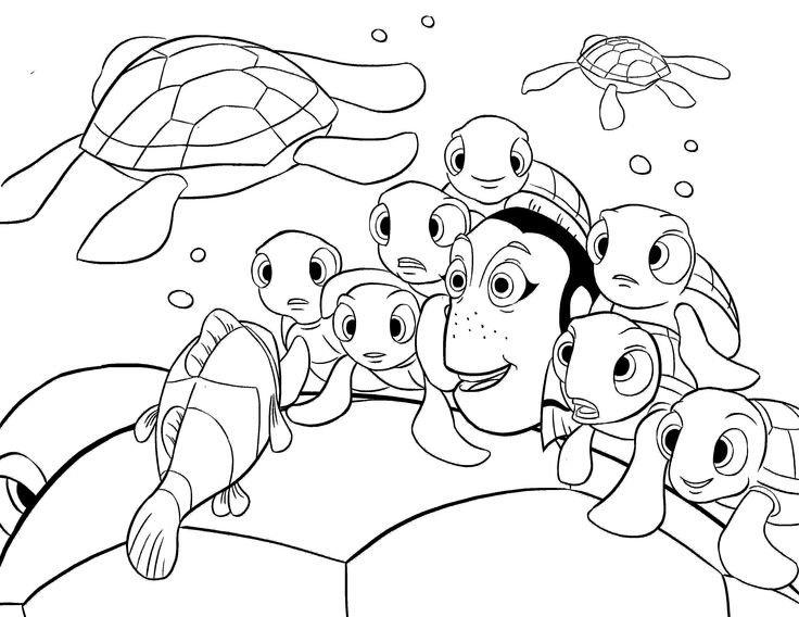 35 best finding nemo coloring pages images on pinterest finding