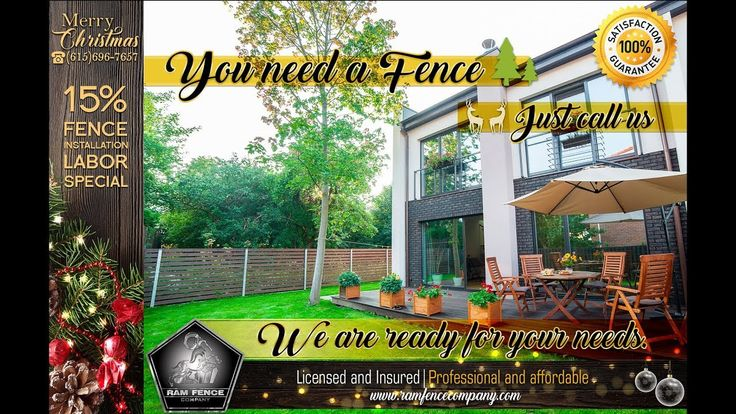 You need a fence just call us, we are ready for your needs - Ram Fence C...