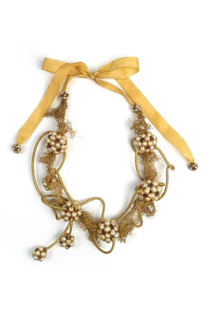 Collar de cordones con perlas - según Celedonio - Otros objetos - Almacen de Belleza