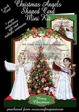 Christmas Angels with bonus gift card  on Craftsuprint - Add To Basket!
