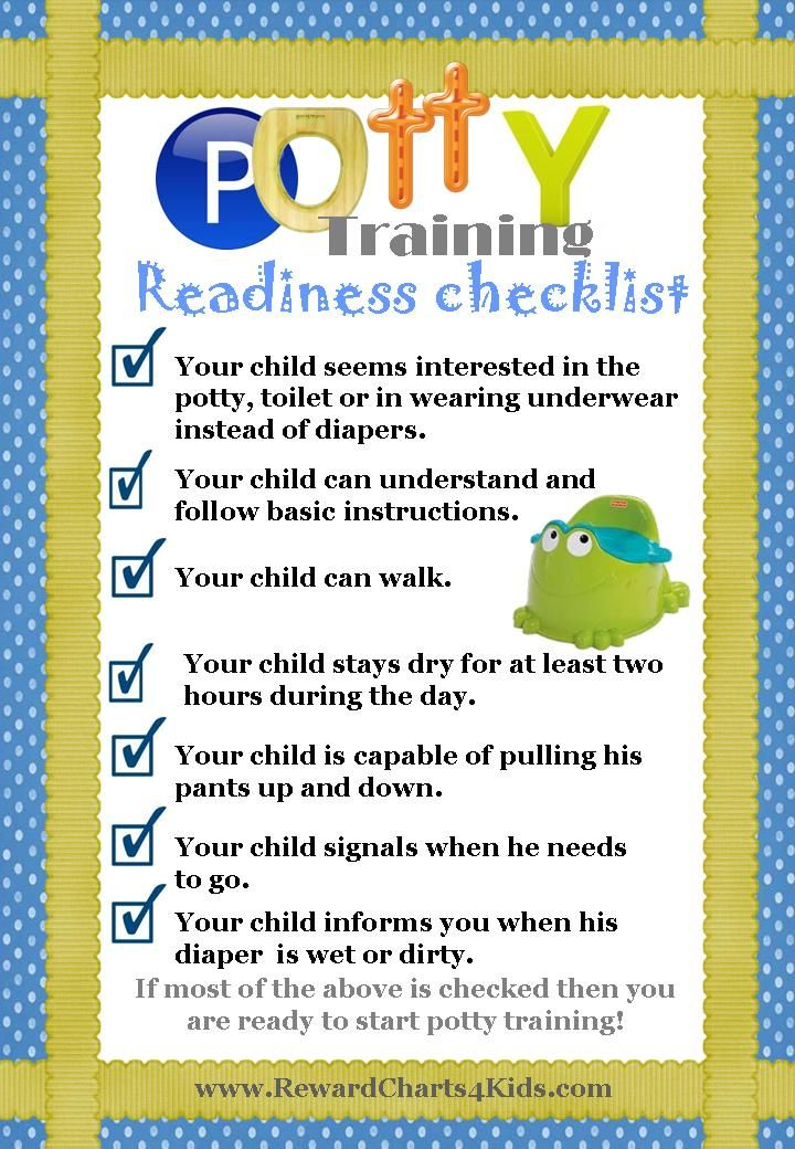 Don't know if your child is ready to start potty training? Take our 1-minute test to find out for sure.