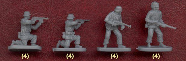 Plastic Soldier Review - Caesar German Infantry with Winter Gear