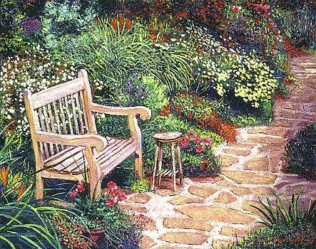 The Artist's Sunbench by David Lloyd Glover
