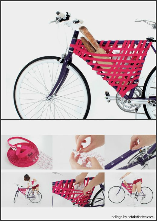"Instant bike storage... turn negative space into a bike ""basket"" on the go."