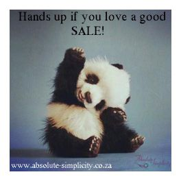 FLASH SALE NOW ON! We decided to have a quick pay-day Flash Sale - massive savings valid until Thursday 2 October - up to R30 OFF on selected products. Tons of VEGAN-friendly cruelty-free products for the whole family. SHOP NOW at http://absolute-simplicity.co.za/collections/sale