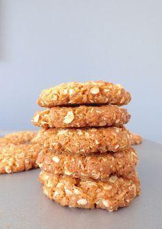 Biscuits Anzac - Biscuits Flocons D'Avoine Noix de Coco                                                                                                                                                      Plus