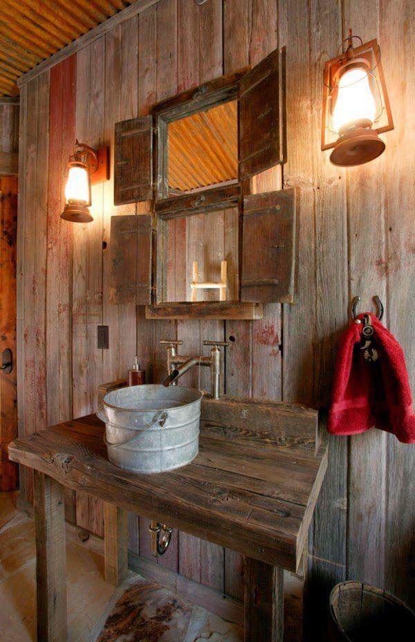 Decoracion Baños Rusticos Pequenos:Más de 1000 ideas sobre Pequeños Cuartos De Baños Rústicos en