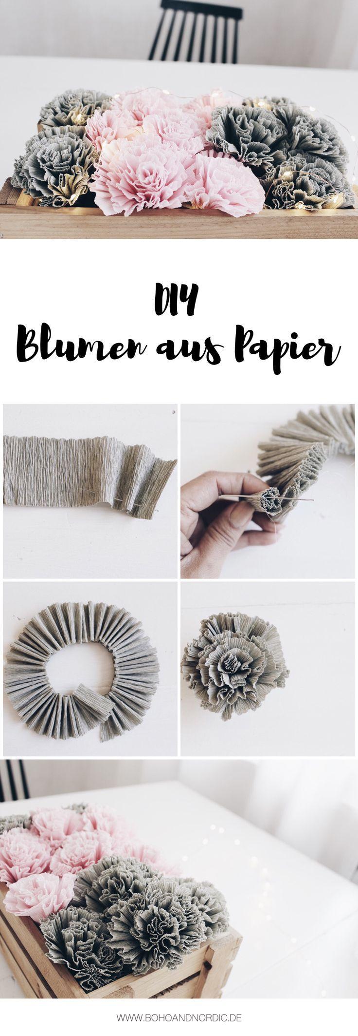 Fleurs de bricolage en papier crépon