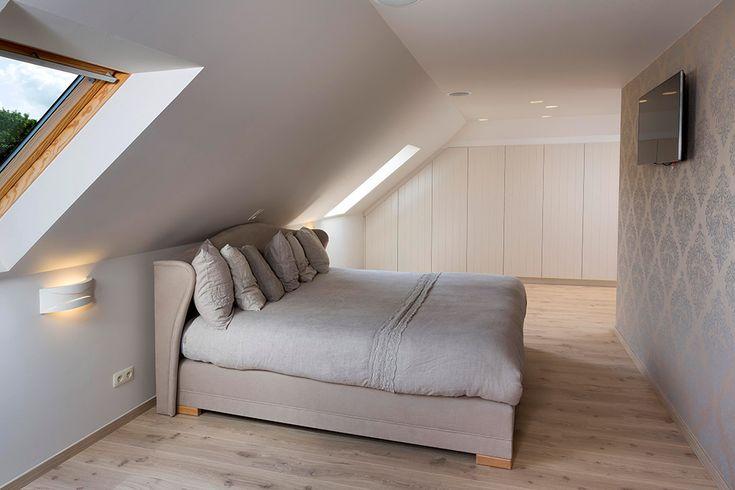 Landelijke slaapkamer inrichting Joost, Materiaal: Fineer gelakt / Parket / Ardente, Ontwerp: Van Der Biest Karen