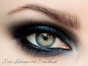 """Blue Smoke"" eye makeup photo tutorial here."