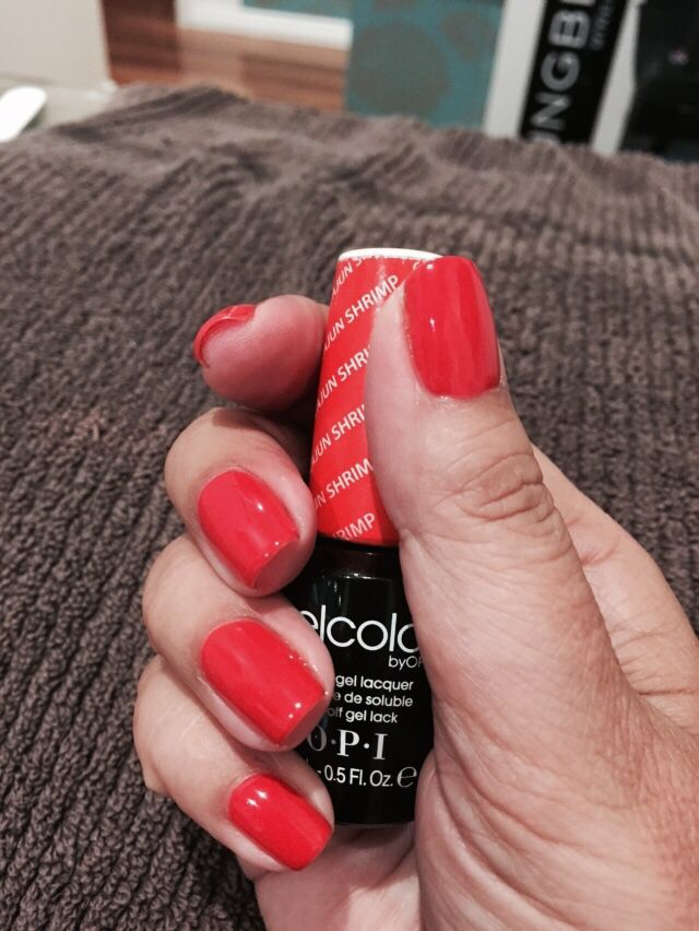 Cajun Shrimp OPI Gel... Summer Color!!