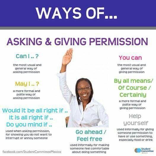 Formas de preguntar y pedir permiso