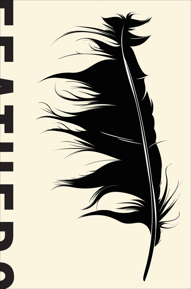 Book Cover Design Silhouette : Feathers cover designed by nicole caputo for basic books
