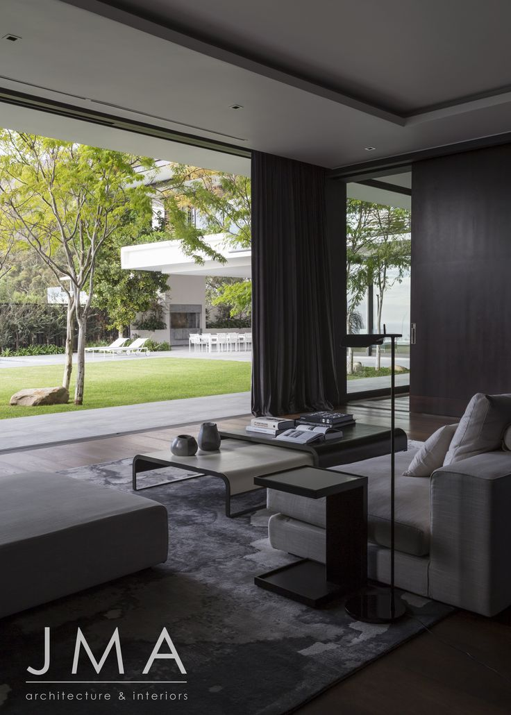 Garden view from lounge in Cape Town villa.