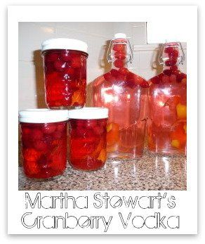 This is an easy recipe I found earlier last month. I got it from Martha Stewart, and it came out so yummy, and was so simple to do- I thought I'd pass it on! My husband and I really enjoyed using the fruit infused vodka in cranberry juice, and as an ingredient in cosmos! They...Read More »