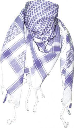 Foulard-plo-EMO-echarpe-palestiniens-shemagh-Chiffon-en-Blanc-Lilas
