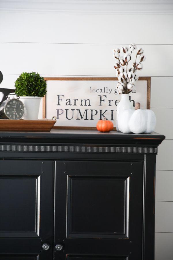 Fall Ideas| DIY Fall Pumpkin Sign