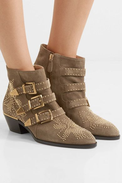 CHLOÉ Susanna studded suede attractive ankle boots