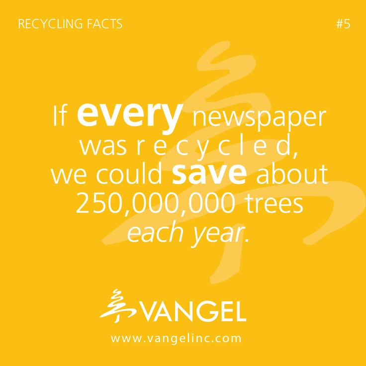 recycling paper facts Recycling facts: this day and age, there are a lot of people out there that take part in recycling  various recycling facts  2000 pounds of recycled paper can .