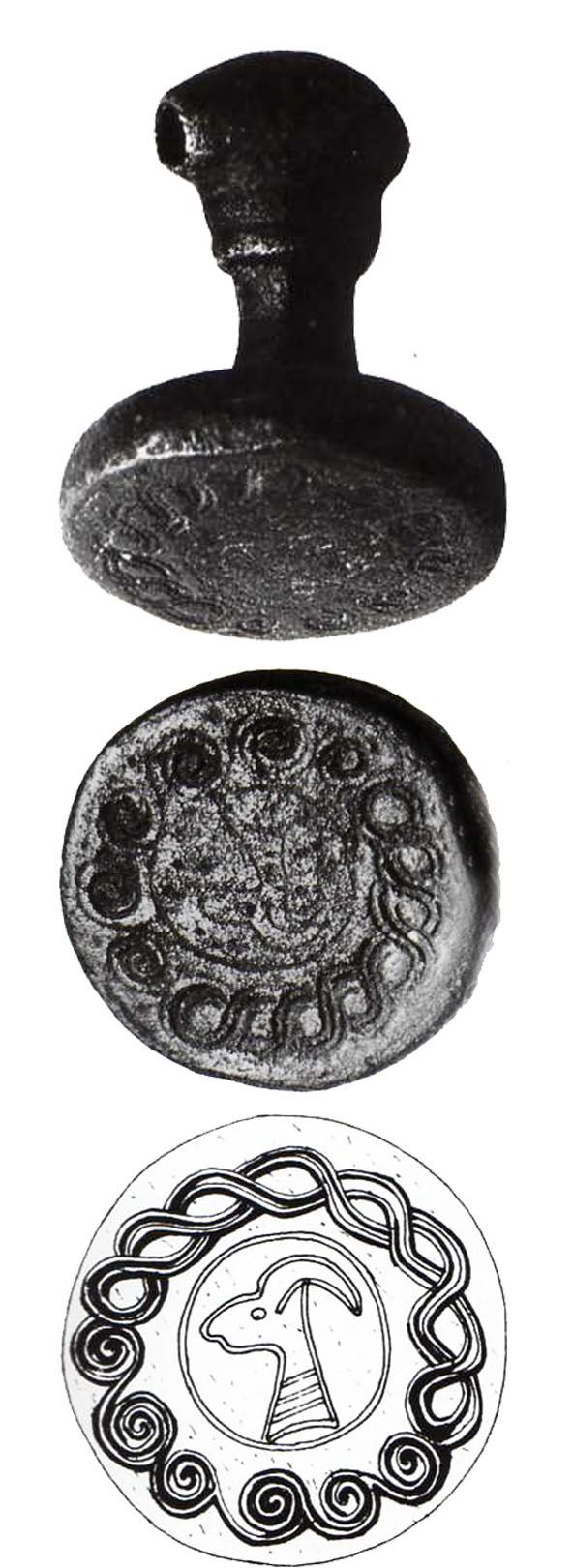 Hittite, silver seal,  1660-1460 BC, Museum of Oriental Antiquities, İstanbul