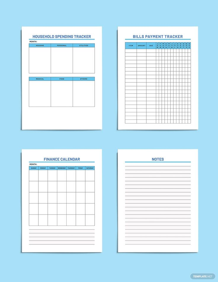 Free Sample Household Budget Planner Template in 2020