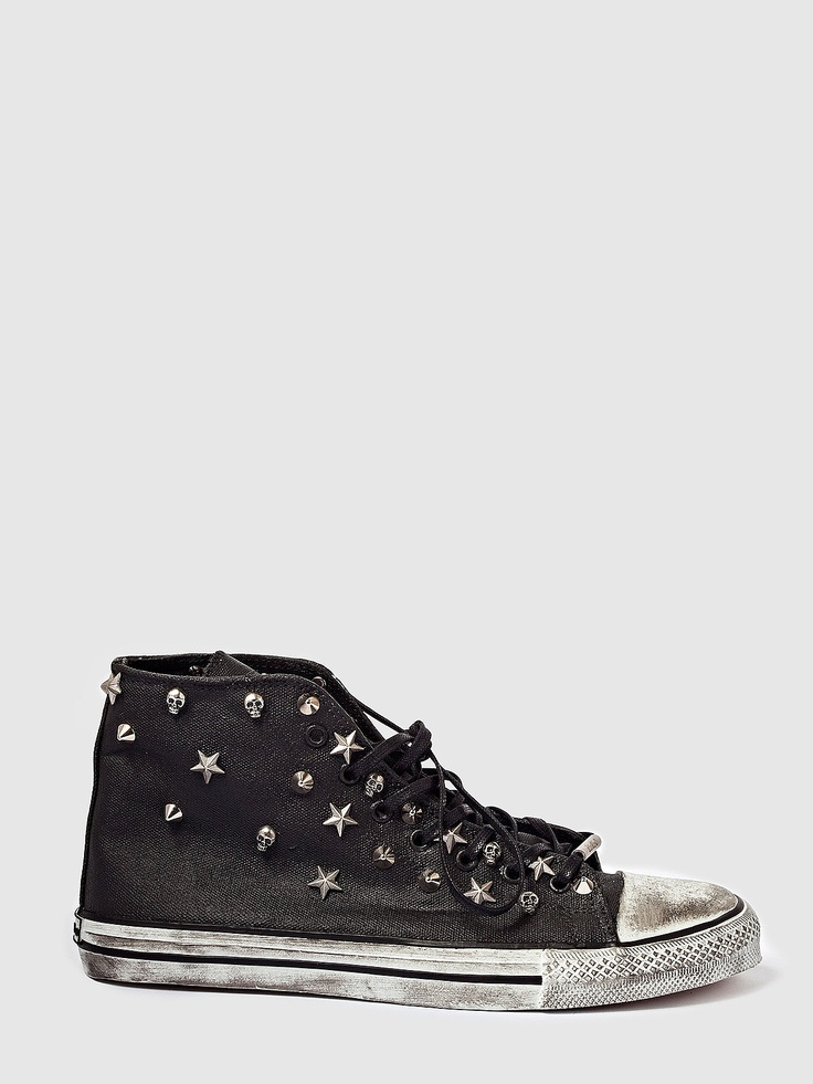 DIONISO, Sneakers, Silver Studs Black