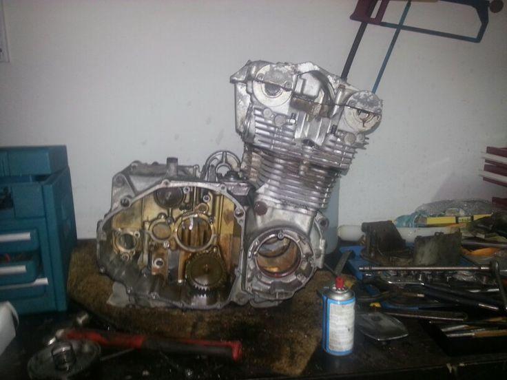 Engine after blasting