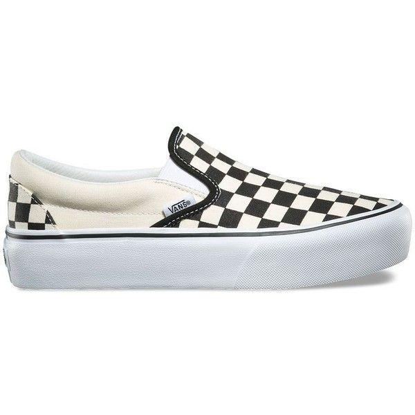 Vans Slip-On Platform ($55) ❤ liked on Polyvore featuring shoes, sneakers, white, vans shoes, platform slip on shoes, white low top sneakers, slip on shoes and slip-on sneakers