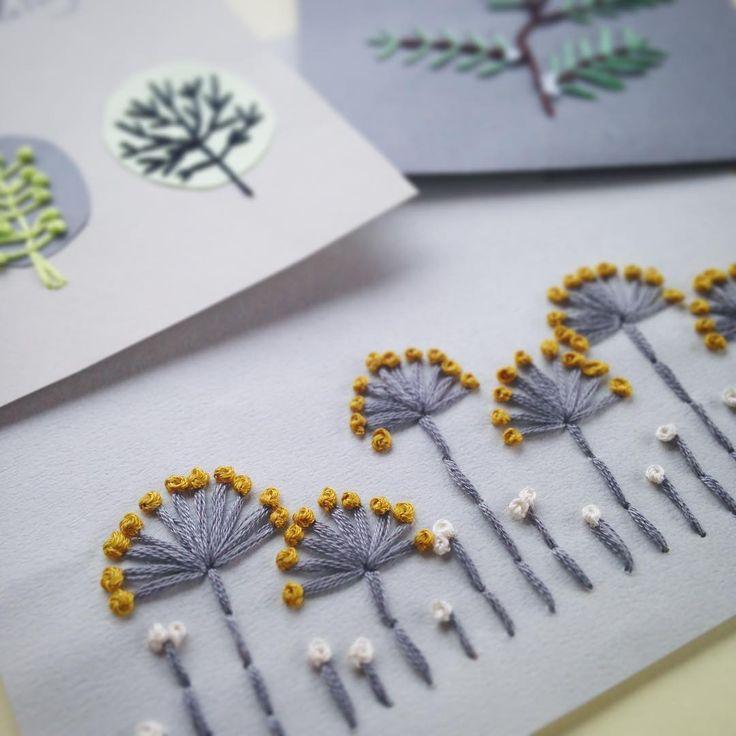 紙刺繍の一番最初の試作品。 モンテッソーリの幼稚園で先生をしていたのですが、そこでは子どもが紙刺繍をやっています。…