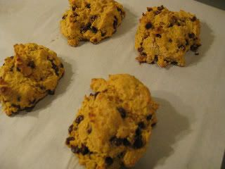 Gf pumpkin chocolate chip scones. I added pumpkin pie spice. They're ...
