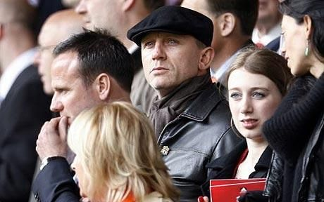 Daniel Craig: Born in Chester but raised on Merseyside, the James Bond actor is a big Liverpool fan. He idolises captain Steven Gerrard and before one game, the skipper waited for Craig in the Liverpool foyer wanting his photograph taken with 'Mr Bond'.