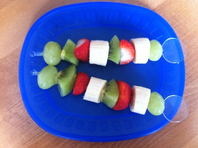 Fruit Kebabs - stick any food on a stick and it instantly becomes fun!