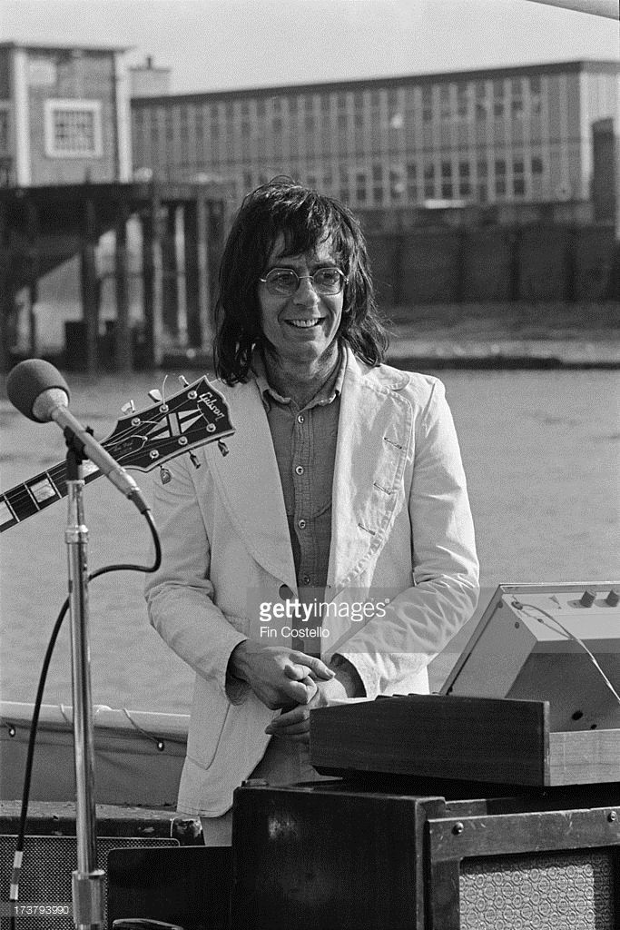 Manfred Mann from Manfred Mann's Earth Band performs live at a press event on a…