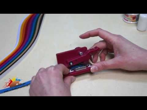 Tutorial video - Aparat de franjurat hartie quilling - Quilling fringer machine