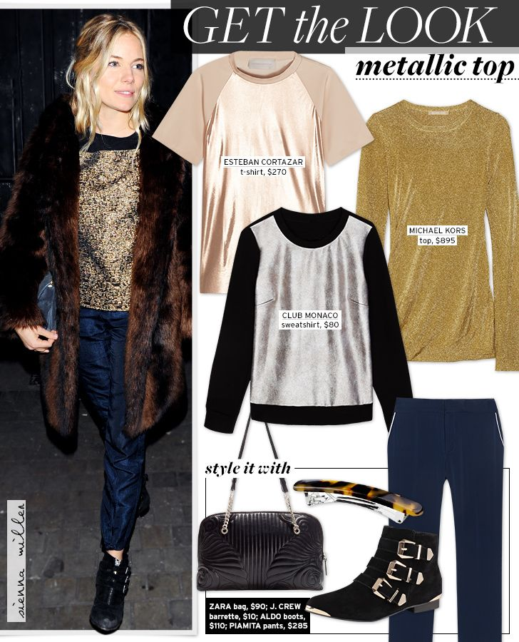 Get The Look: Metallic Top - Celebrity Style and Fashion from WhoWhatWear  #SheenStretch