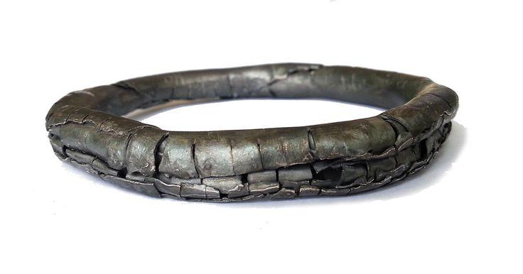 Annie Huang Contemporary Art Jewellery Designer | Sense of Belonging 2015 - metal, oxidised bangle