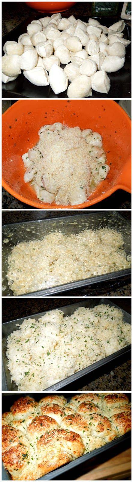 Garlic-Parmesan Cheese Pull Apart Bread