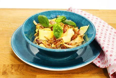 Pasta med bacon | Recept från Köket.se
