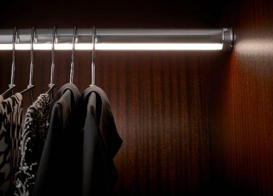Brilliant Design   Wood-Mode   Fine Custom Cabinetry   Wardrobe Pole Lighting   Custom Closets   http://www.knsales.com/