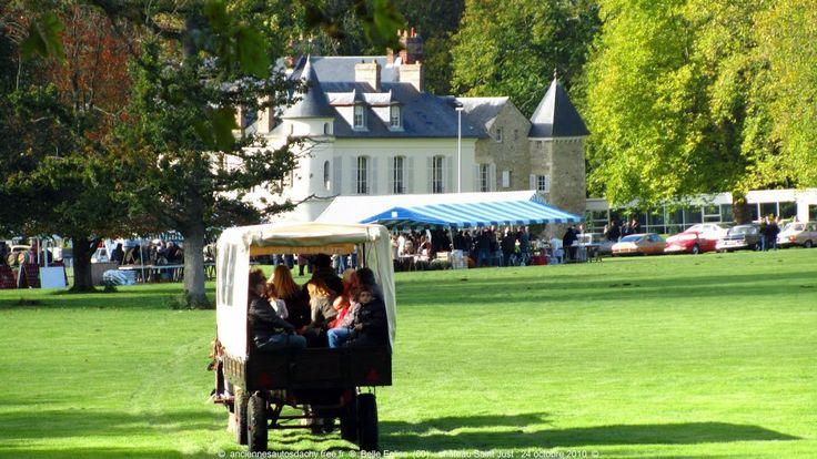 Balade en calèche dans le parc du Château - http://pomme-cidre-tradition.fr/