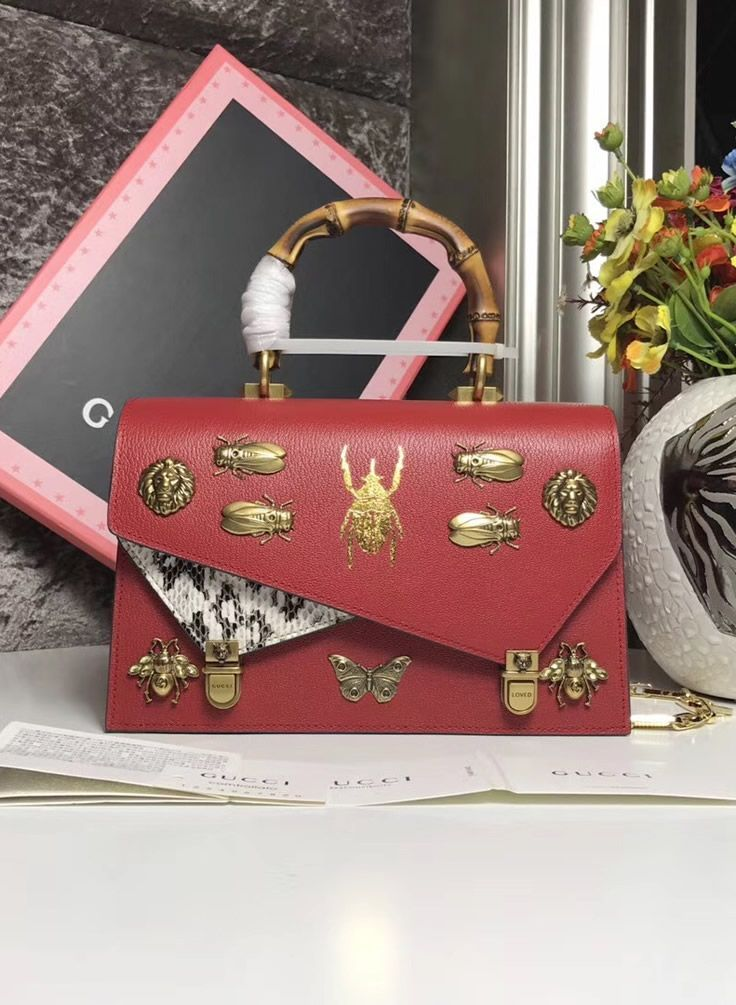 3587fd0816ca Gucci Ottilia small top handle tote bag Red   Things i love   Bags ...
