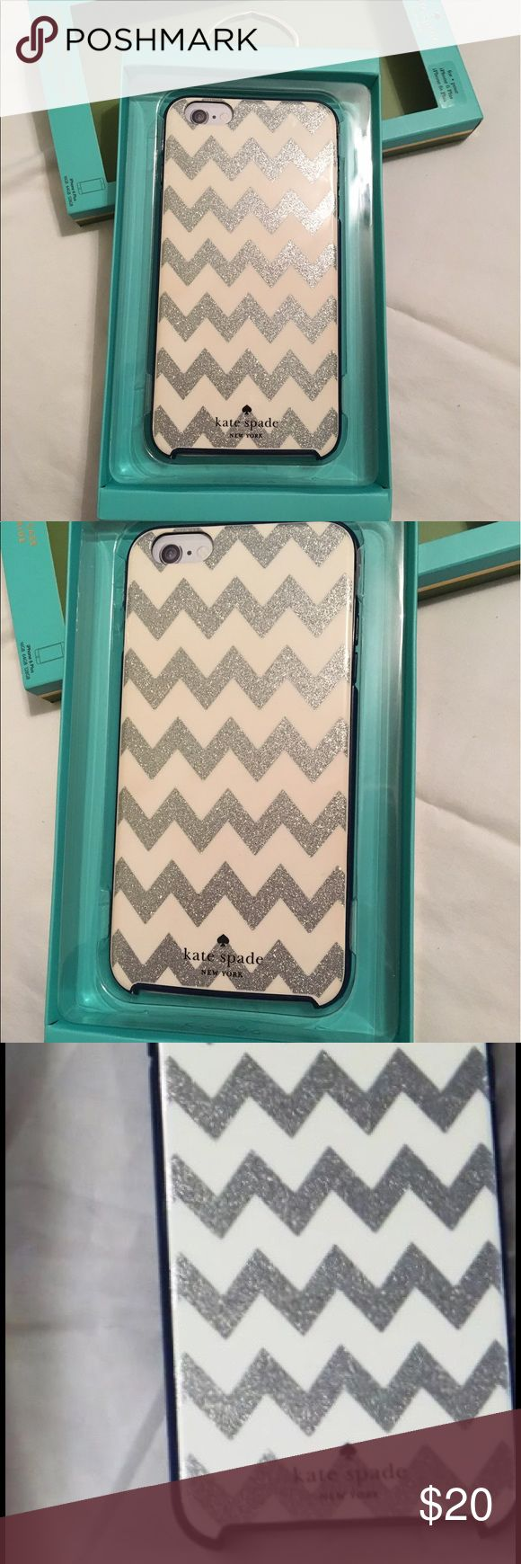 Kate Spade NY iPhone 6/6s Plus Hardshell Case Brand new, never used. Retail cost $45, only asking $20 OBO.  Safeguard your Apple iPhone 6 Plus or 6s Plus with this kate spade new york KSIPH-012-CGSN case, which offers durable polycarbonate material with removable rubberized bumpers to absorb shock & keep your device looking like new. -Compatible with Apple iPhone 6/6s Plus -Hard shell polycarbonate case safeguards your device against everyday wear & tear -Rubberized bumper offers additional…