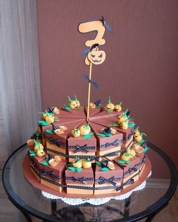 Halloween paper cake. Inny niż wszystkie tort urodzinowy