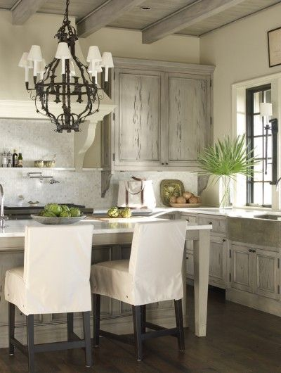 McAlpine Booth & Ferrier Interiors Beachfront Light » McAlpine Booth & Ferrier Interiors. Driftwood Finished Cabinets