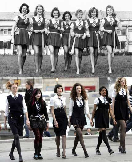 St Trinian's:  Original or remake, the school uniforms at St Trinian's are iconic