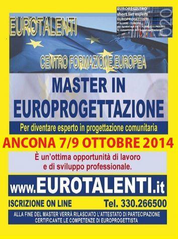 Bakeca AnconaOPPORTUNITA' DI #LAVORO – STAGE e TIROCINIO:  RIPARTI CON UNA #COMPETENZA INNOVATIVA  Diventa consulente #EUROPROGETTISTA: professione innovativa  #Master in #Europrogettazione  ti consente #lavoro, #indipendenza, #professionalità' e #guadagni immediati #tirocinio e #stage ISCRIVITI ON LINE: www.eurotalenti.it